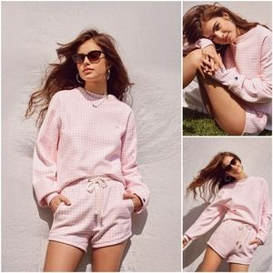 Urban Outfitters Champion Pink Gingham Shorts